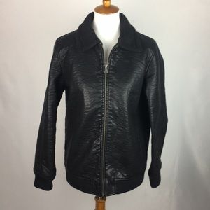 Forever 21 Black Leather Coat